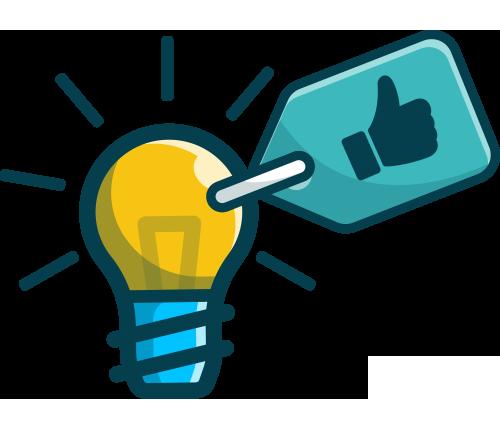 Une idée représentée par une lampe jaune avec un pousse