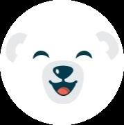 Visage de l'ours Bili souriant